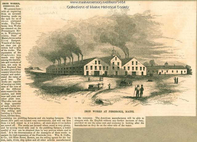 Iron works at Pembroke, 1855