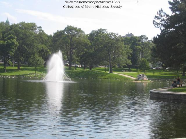 Deering Oaks: Domed Trees, Duck House and Fountain, 2004