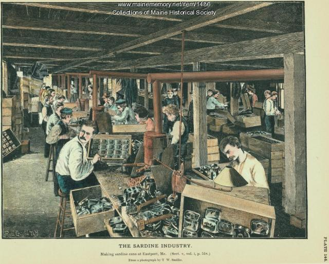 Sardine can factory, Eastport, ca. 1880