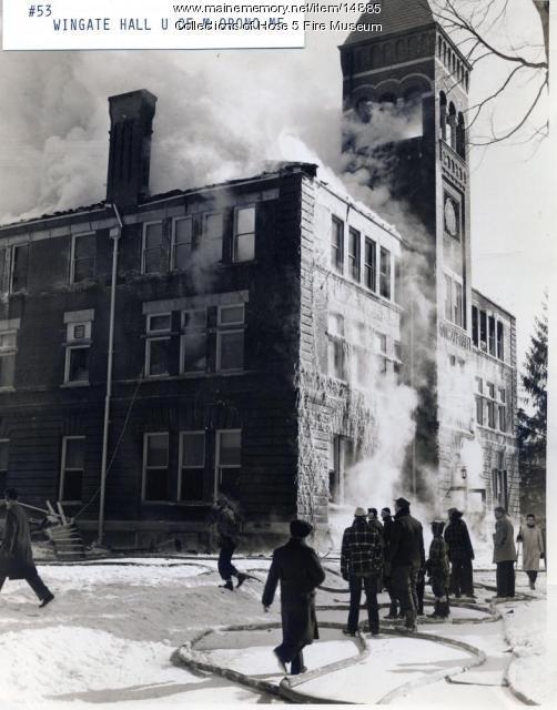 Wingate Hall fire, Orono, Feb. 16, 1943