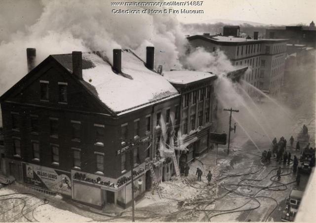 York Street Fire, Bangor, Jan. 27, 1945