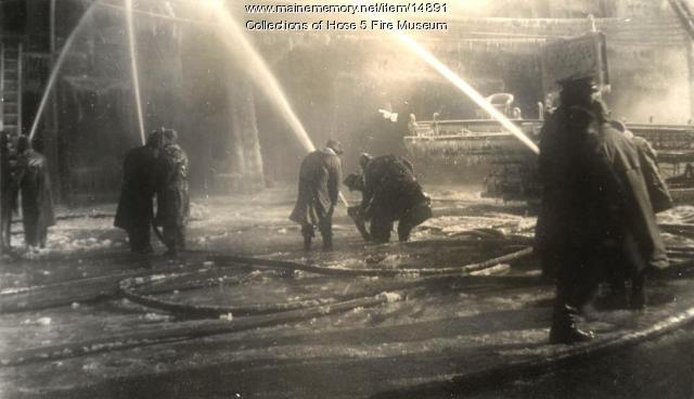 York Street fire, Bangor, 1945