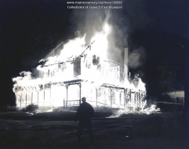 Structure Fire in Bangor, ca. 1940