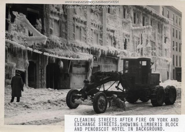York Street Fire Clean-up, Bangor, Jan. 29, 1945