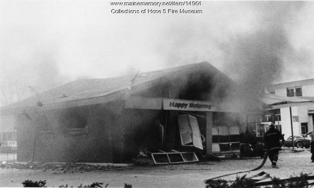 Exxon Station Fire, Bangor