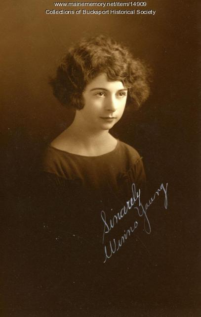 Winnie Young, East Maine Conference Seminary, 1924