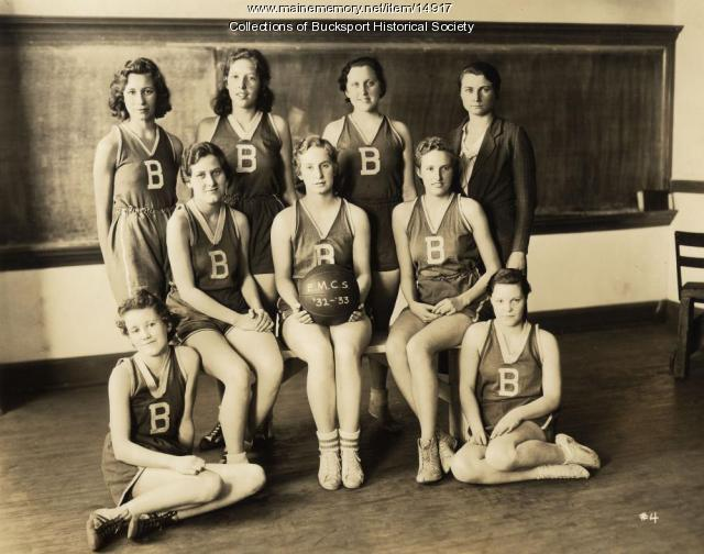 Basketball team, Bucksport, ca. 1932