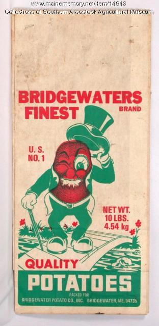 Bridgewaters Finest potato bag, Bridgewater, c. 1980