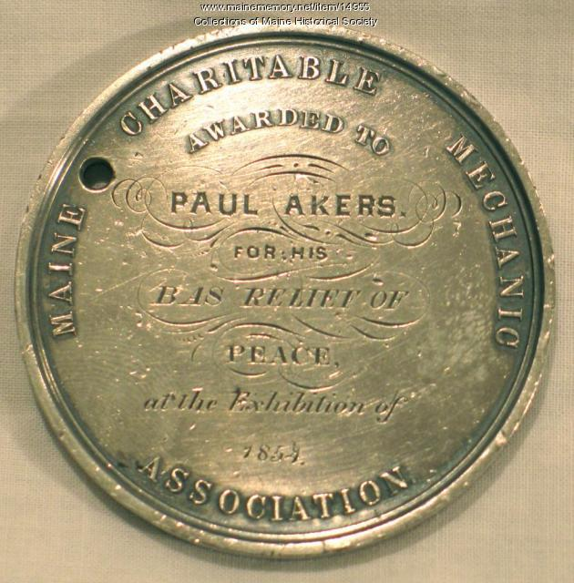 Akers commemorative medal, 1854