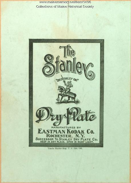 Stanley Dry Plate Company label, ca. 1904