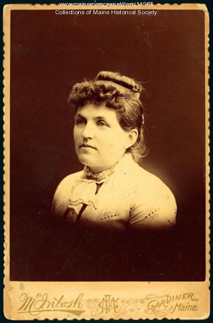Clara Emma Jewell Baker, Gardiner, ca. 1900