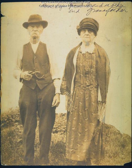 Millard and Helene Baldwin, New Gloucester, ca. 1925