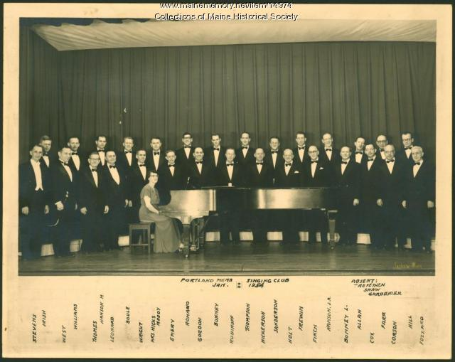 Portland Men's Singing Club, 1954