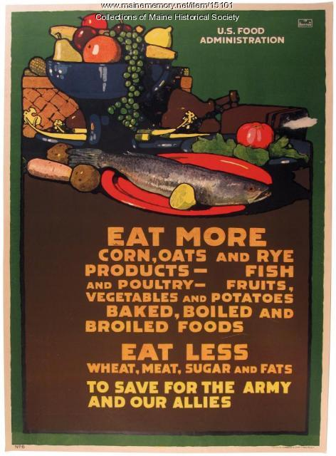 War food conservation poster, 1917