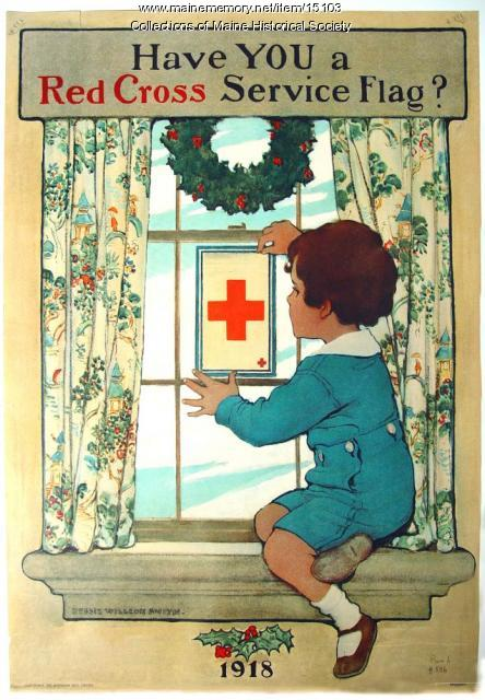 Have you a Red Cross service flag? World War 1 poster, 1918