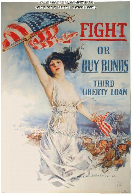Fight or buy bonds, World War I poster, 1917