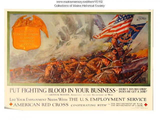 Put fighting blood in your business, World War 1 poster, ca. 1917