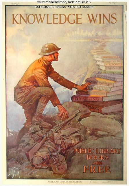 World War I library poster, ca. 1918