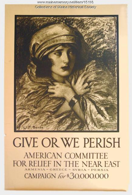 """Give or we perish"" World War I era poster, ca. 1917"