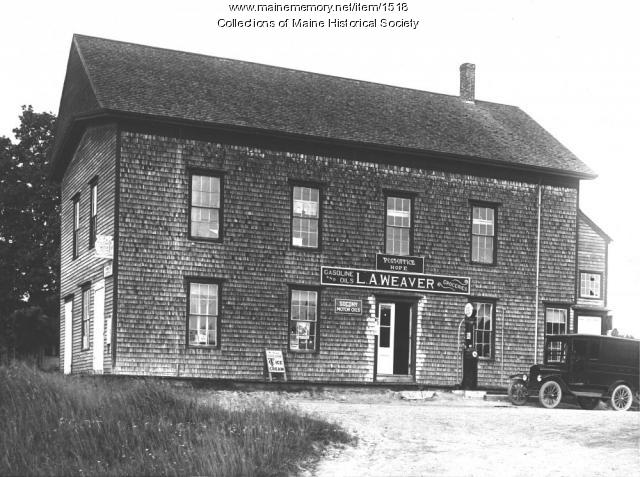 L.A. Weaver store, post office and grange hall, Hope