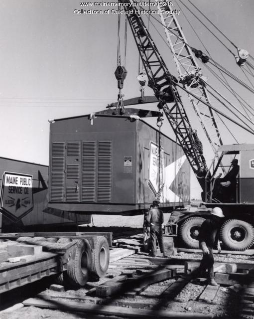 Generator delivery, Presque Isle, 1959