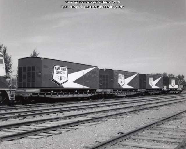 Delivery of generators, Presque Isle, 1959