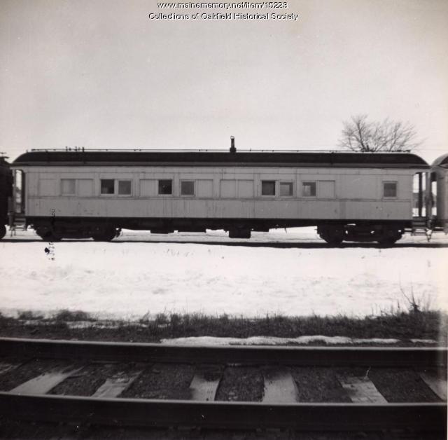 Bangor and Aroostook Railroad outfit car, ca. 1955
