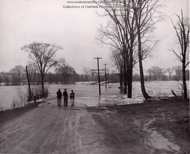 Spring flooding in Aroostook County, c. 1955