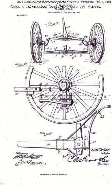 Silas W. Taber patent 719,531, Houlton, 1902