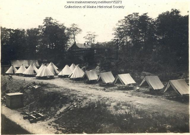 Coastal Artillery Corps camp, Great Diamond Island, 1909