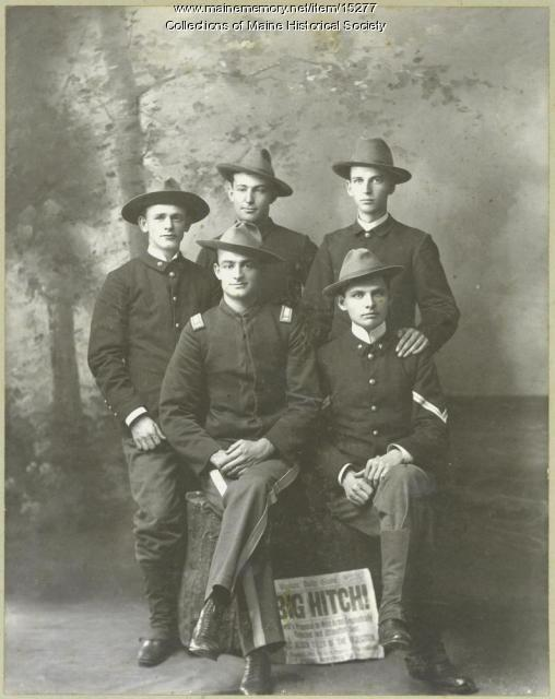 Recruiting party, 1st Maine Volunteers, 1898