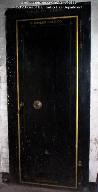Town of Eden vault door, ca. 1900
