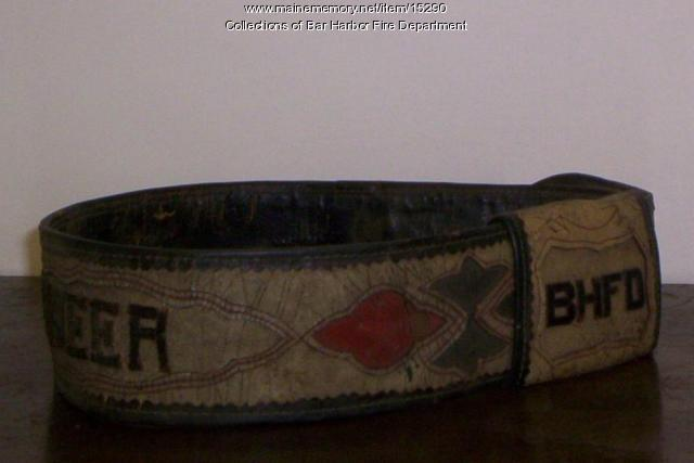Fire Chief Belt, Bar Harbor, ca. 1900