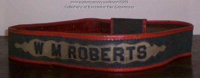 W. M. Roberts' belt