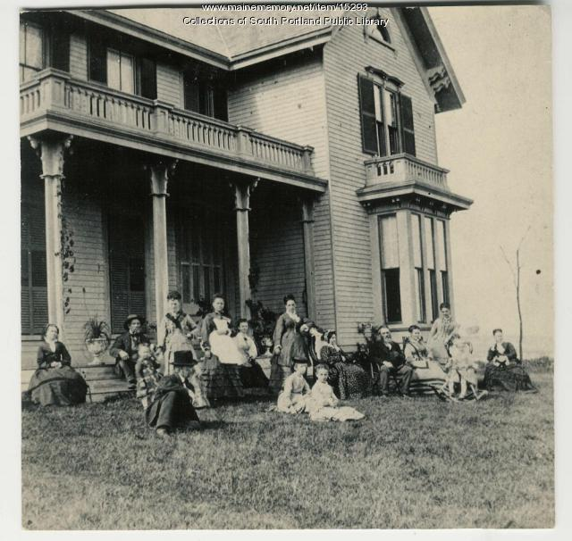 Scamman family home, South Portland, ca. 1874