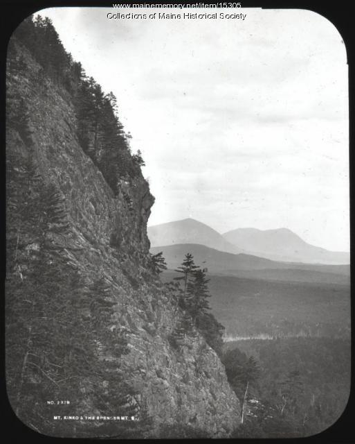 Mt. Kineo and Spencer Mountain, ca. 1900