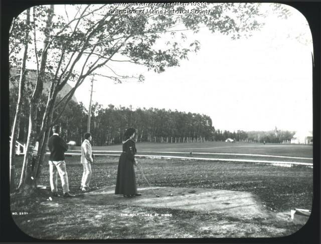 Golf links, Mt. Kineo House, ca. 1900