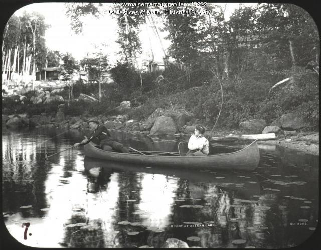 Fishing, Attean Lake, ca. 1900