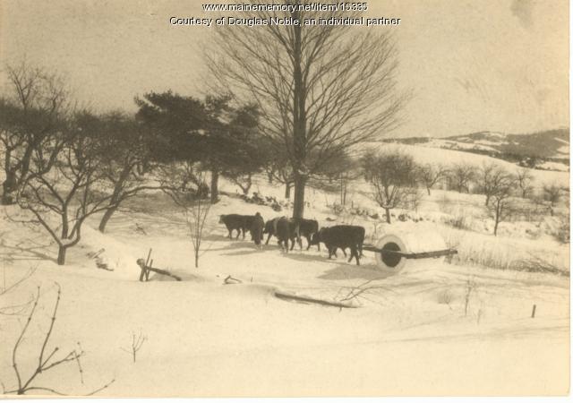 Snow Packing in Hiram, 1925
