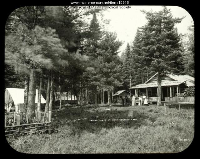 Smith's Camps, Umbazooksus Lake, ca. 1900