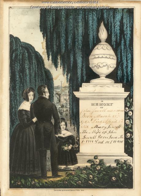 Jewell Family record , Cornish, ca. 1856
