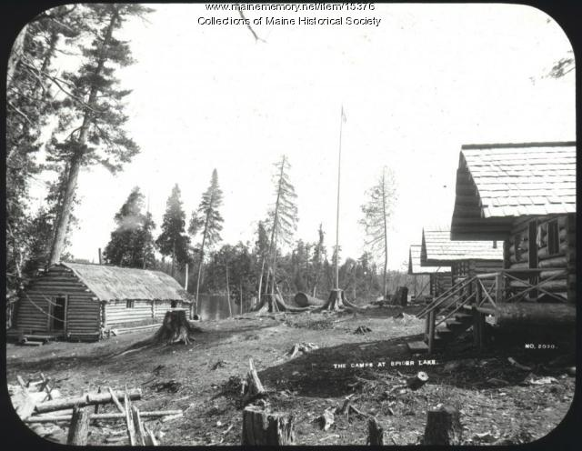 Camps, Spider Lake, ca. 1900