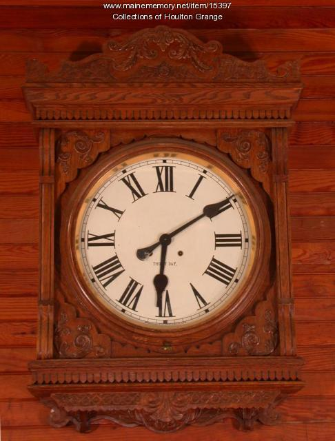 Houlton Grange Meeting Hall clock, ca. 1904