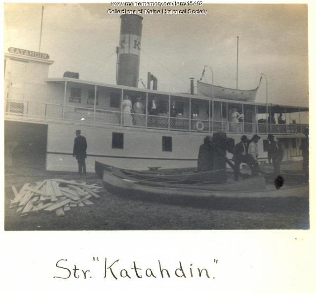 Steamer Katahdin, Moosehead Lake, 1911