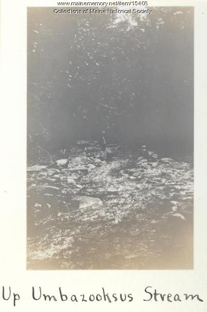Up Umbazooksus Stream, 1911