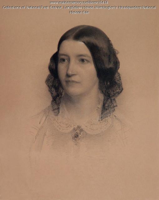 Frances Appleton Longfellow by Rowse, 1859