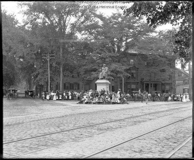 Longfellow Square, Portland, ca. 1900