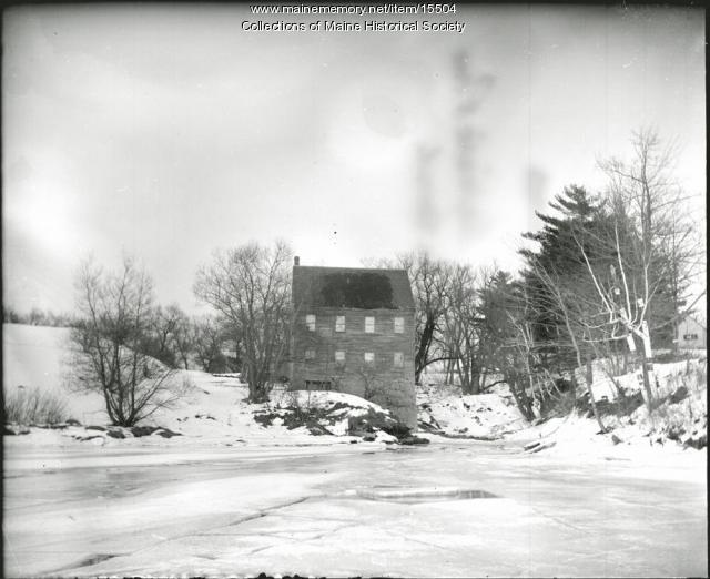 Mill, Capisic Pond, Portland, ca. 1900