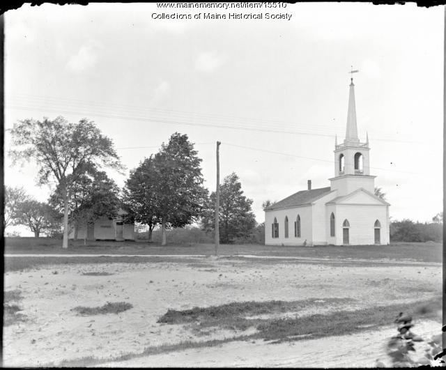 Bradley Meeting House and School, Portland, ca. 1900