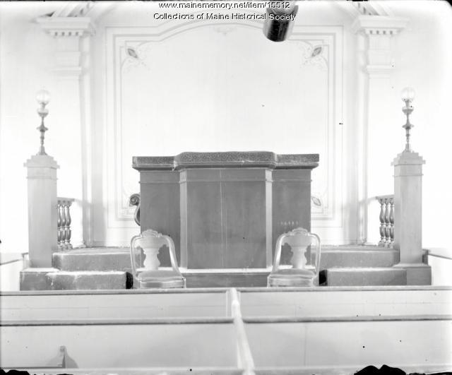 Pulpit, Bradley Meeting House, Portland, ca. 1900
